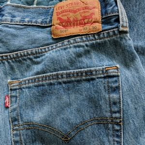 Levi's 501 XX Button Fly Med Wash Denim Jeans